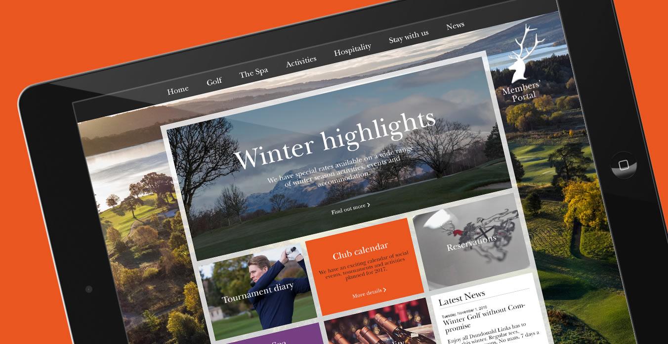 Loch Lomond Golf Club Members web site