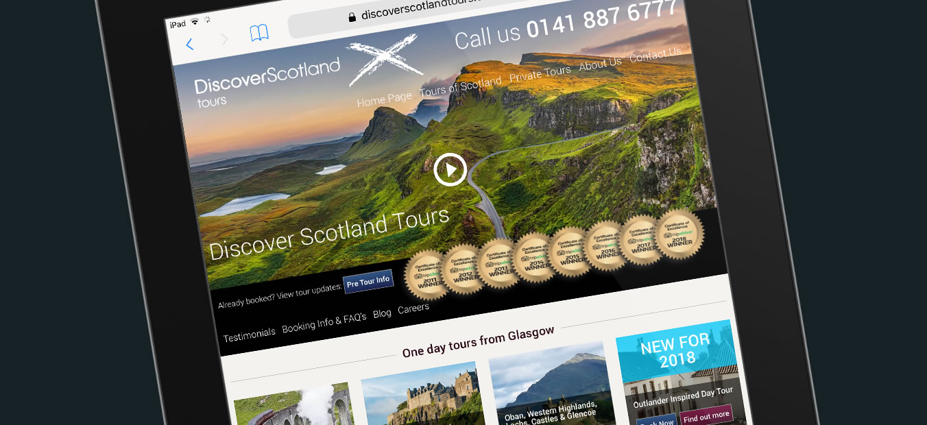 Discover Scotland Tours Web site