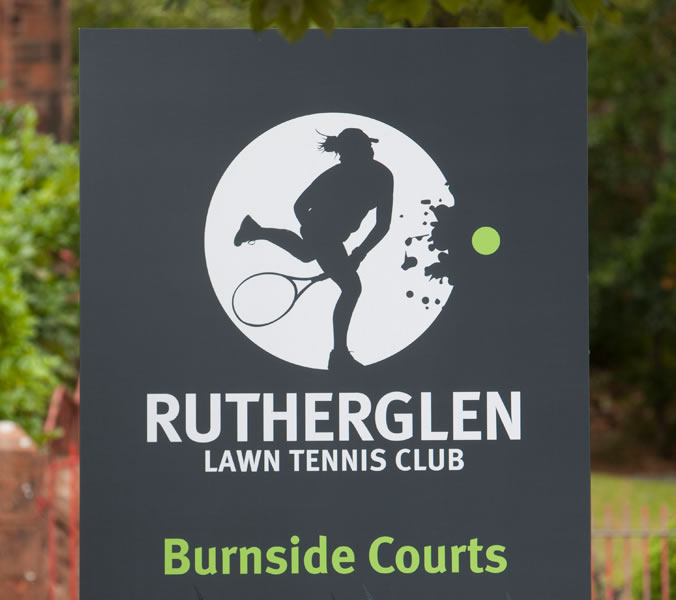 Rutherglen tennis club signage