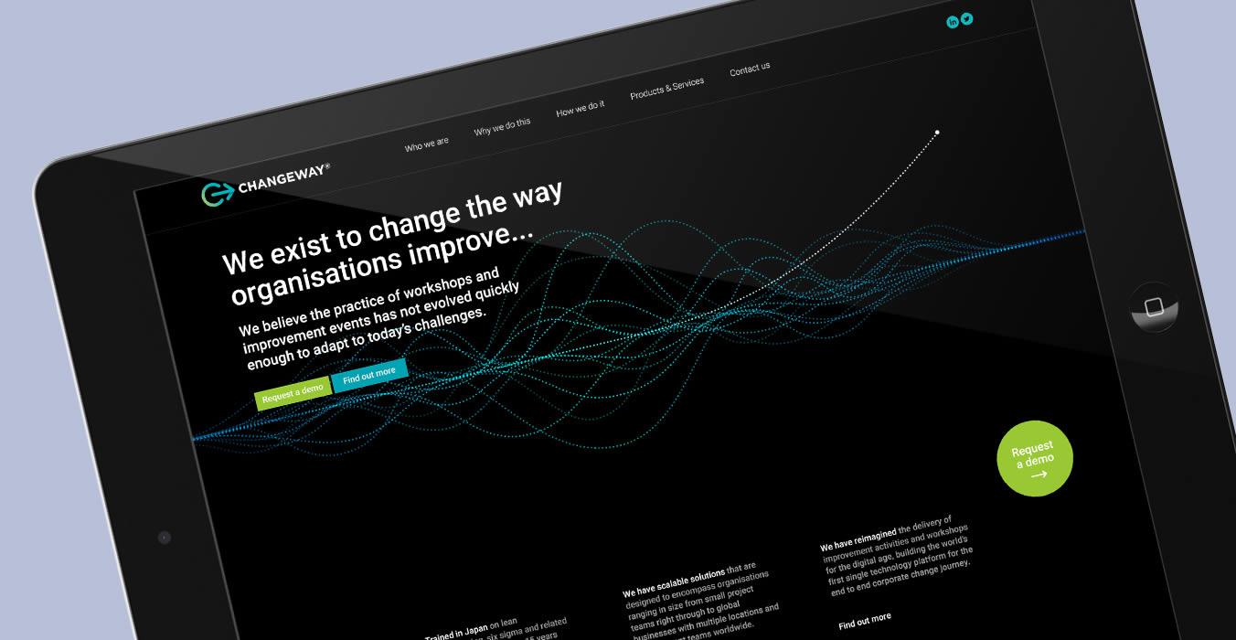 Changeway web homepage