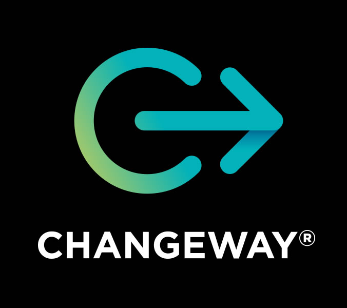 Changeway logo and brand by Glowfish